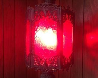 1960's Spanish Modern Swag Lamp--Bueno!