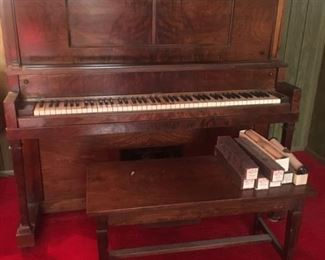 Player Piano and Dozens of Cool Music Rolls