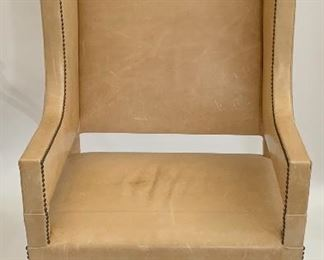 Impressive Blonde Leather Arm Chair - LR 2.  Available ONLINE ONLY @ www.scavengersparadise.com                              Please read all Terms & Conditions before purchasing.