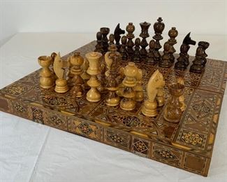 Moroccan Inlay Chess & Backgammon Set - DO 10.  Available ONLINE ONLY @ www.scavengersparadise.com                                              Please read all Terms & Conditions before purchasing.
