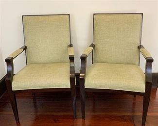 Linen Set of Chairs - A Pair.  DO 8.  Available ONLINE ONLY @ www.scavengersparadise.com                                              Please read all Terms & Conditions before purchasing.
