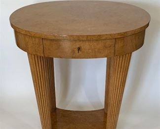Rose Tarlow Petite Biedermeier Side Table - PO 1.  Available ONLINE ONLY @ www.scavengersparadise.com                                              Please read all Terms & Conditions before purchasing.