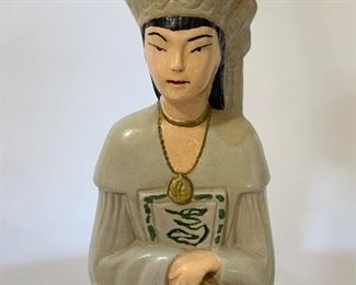 Asian Girl Figural Lamp w/Waxed Parchment Shade - PO 2.  Available ONLINE ONLY @ www.scavengersparadise.com                                              Please read all Terms & Conditions before purchasing.