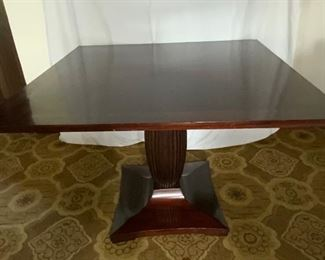 Pedestal Square Game Table - DO 7.  Available ONLINE ONLY @ www.scavengersparadise.com                                              Please read all Terms & Conditions before purchasing.
