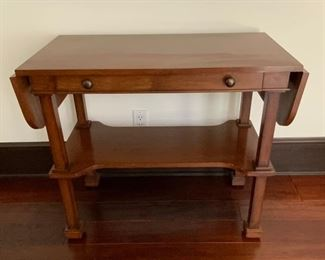 Drop Leaf Table w/Drawer on Casters - DO 9.  Available ONLINE ONLY @ www.scavengersparadise.com                                              Please read all Terms & Conditions before purchasing.