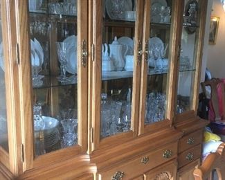 . . . a beautiful china cabinet filled with treasures