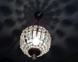 crystal chandelier in foyer