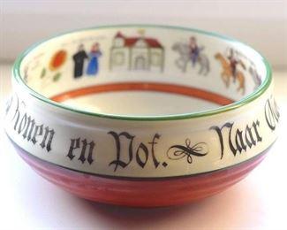 Very Rare Antique 1890-1910 Old Norse Porsgrund Porcelain Ale Bowl
