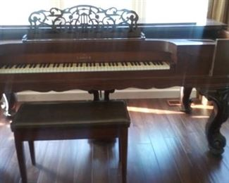 """****Taking bids on this Square Grand Piano by Gabler, New York.  We are ****taking bids**** on this gorgeous find!  When purchased, it must be moved asap by your movers.                                                                                           Measurements are 6'7""""wide, 38"""" deep, 37"""" tall.  Width of Ebony & Ivory keys 47-3/4"""""""
