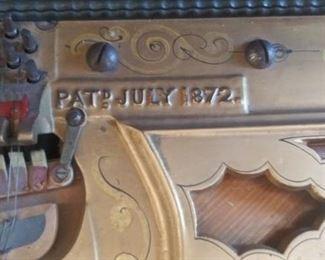 Pat: July 1872