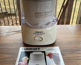 REDUCED!  $18.75 NOW, WAS $25.00............................Cuisinart Frozen Yogurt Ice Cream Sorbet Maker (S048)