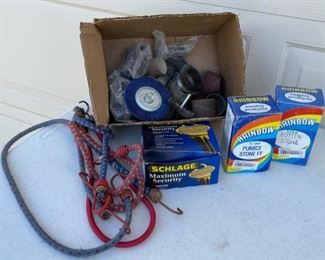 HALF OFF!  $5.00 NOW, WAS $10.00...........................Bungie Cords, Schlage Lock and more (S041)