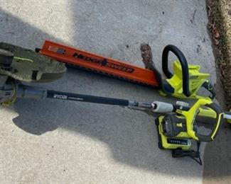 $40.00.........................Ryobi Weed Eater and Trimmer includes one battery and one charger for the 2 (S022)
