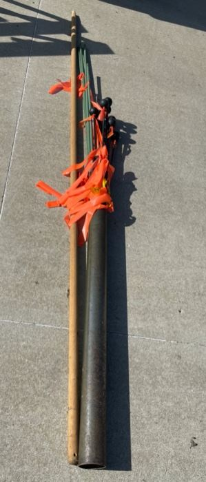 HALF OFF!  $7.00 NOW, WAS $14.00......................Post Hole Pounder and Yard Stakes (S008)