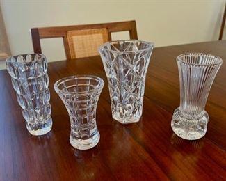 """$14.00...................Glass Vases, Tallest vase 5"""" (S127)"""