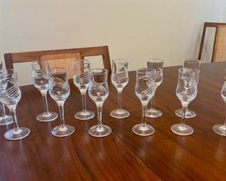 "$30.00.................12 Glasses 5 1/2"" tall (S120)"