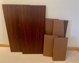 """Table 64"""" x 42"""", 28 1/2"""" tall, includes 2 20"""" Leaves, Pads for all and 6 Chairs (S114)"""