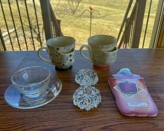 HALF OFF!  $7.00 NOW, WAS $14.00..................Unique Tea Cups and more (S103)