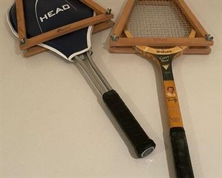 CLEARANCE !  $4.00 NOW, WAS $16.00..................2 vintage Tennis Rackets (S276)