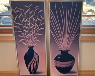 """HALF OFF!  $3.00 NOW, WAS $6.00...............Pair Pictures 31"""" x 13"""" no glass (S265)"""