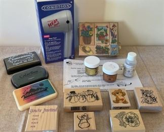 HALF OFF!  $8.00 NOW, WAS $16.00....................Stamps, Embossing tools and more (S267)