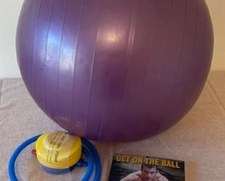 REDUCED!  $6.00 NOW, WAS $8.00..............Exercise Ball and Book (S257)