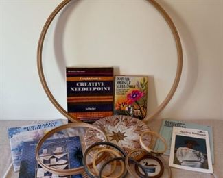 CLEARANCE !  $2.00 NOW, WAS $10.00.................Embroidery Hoops and Patterns (S254)