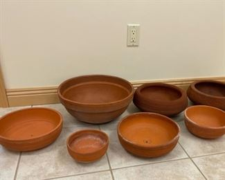 REDUCED!  $15.00 NOW, WAS $20.00................Terracotta Pots (S238)