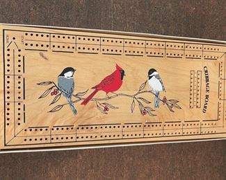 $12.00..................Cribbage Board with Birds (S229)