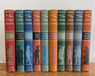 HALF OFF!  $25.00 NOW, WAS $50.00..................The New Junior Classics Book set 1 - 10 (S218)