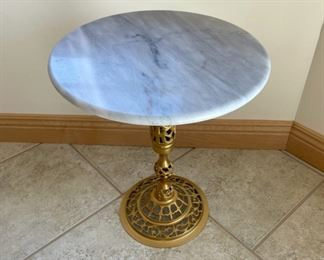 """$45.00......................Marble Table Stand 17 1/2"""" tall, 15"""" diameter (S208)"""