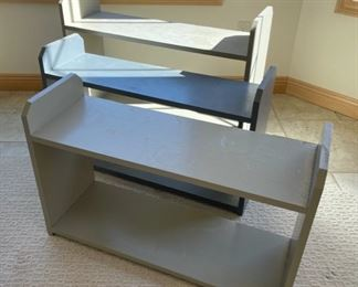 HALF OFF!  $5.00 NOW, WAS $10.00...........................3 Shelving Units (S206)