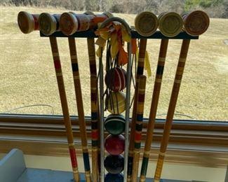 $25.00.....................Vintage Croquet Set (S204)