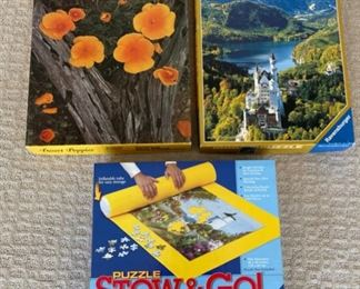 REDUCED!  $9.00 NOW, WAS $12.00.................Puzzles and Puzzle Mat (S202)