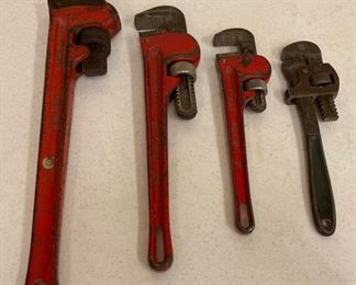 """REDUCED!  $15.00 NOW, WAS $20.00..............Pipe Wrenches: 18"""", 14"""" 10"""" and 8"""" (S399)"""