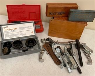 $16.00.................Hole Saw set,  Wheel Puller and Accessories and more  (S386)