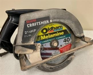 CLEARANCE !  $10.00 NOW, WAS $45.00.....................Craftsman Circular Saw (S358)