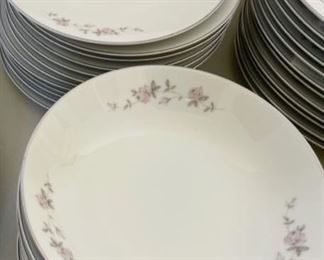 Close up:...Noritake Bellemead China Set Service for 12 plus (S138)