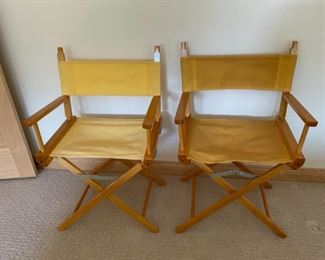 CLEARANCE !  $6.00 NOW, WAS $24.00.................Pair of Director Chairs (S324)