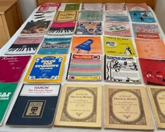 CLEARANCE !  $10.00 NOW, WAS $40.00.................30 Music Books or Sheet Music (S314)