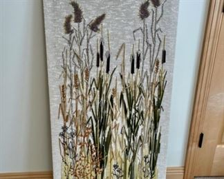 """$25.00.......................Embroidered Wall Art 24"""" x 45"""" (S301)"""