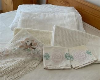 CLEARANCE !  $4.00 NOW, WAS $14.00....................Twin Mattress Pad, Blanket, Embroidered Pillow Cases and more (S298)