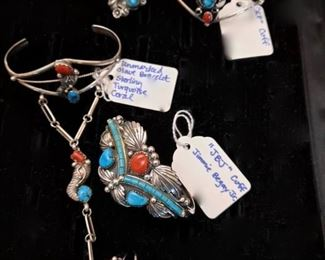 Native American Jewelry - ALL JEWELRY IS KEPT OFF SITE UNTIL DAY OF SALE!