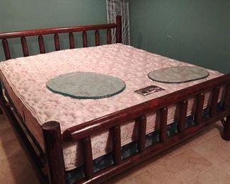 King Size Cedar Log Style Bed