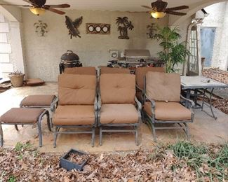 Set of 6 Deep Seating Outdoor Chairs /w 2 Ottomans
