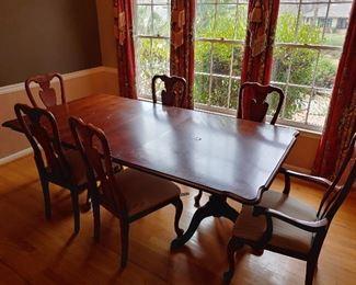 7 Piece Dining Table Set (minor surface damage)
