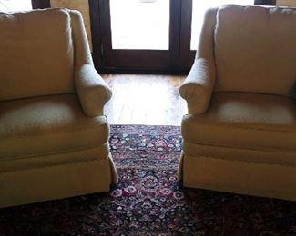 Robb & Stucky Swivel Arm Chairs