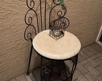 Antique Step Seat w/ Step stool