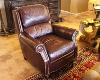 Nailhead leather chair