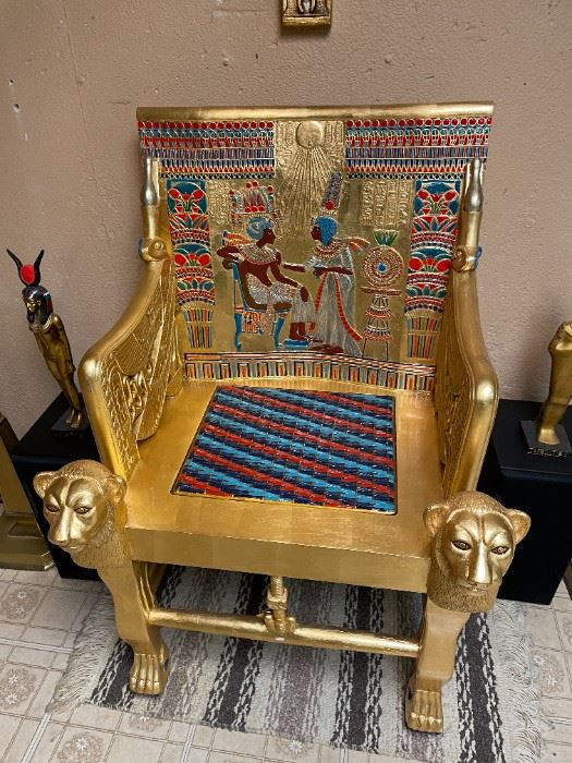 . . . talk about a statement piece -- King's chair